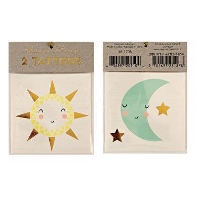 Meri Meri - Zestaw Tatuaży Słońce i Księżyc