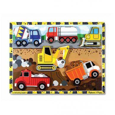 Melissa & Doug - Drewniane Puzzle Pojazdy Konstrukcje