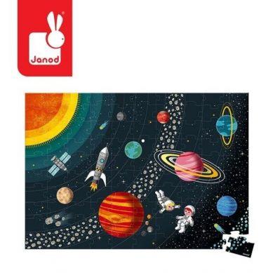 Janod - Puzzle Edukacyjne Układ Słoneczny 100 Elementów 5+