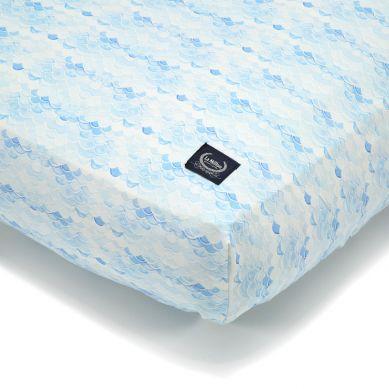 La Millou - Prześcieradło Good Night 70x140 cm Moby Waves