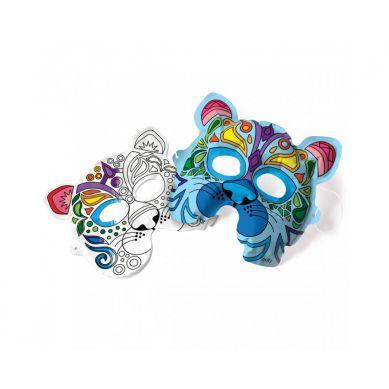 Ooly - Kolorowanka 3D Maski Dzikie Koty