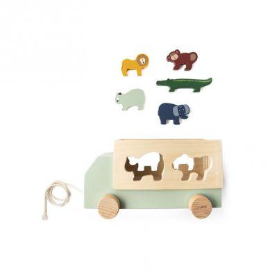 Trixie - Drewniana Ciężarówka Animals 18m+