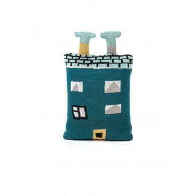 Fabliek - Poduszka Dekoracyjna Zielony Domek