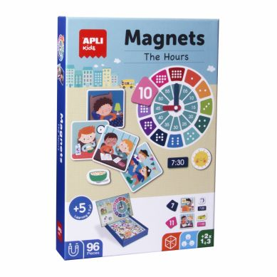 Apli Kids - Magnetyczna Układanka Godziny 5+