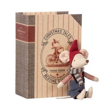 Maileg - Myszka Świąteczna w Książce Christmas Mouse in Book - Big Brother 3+