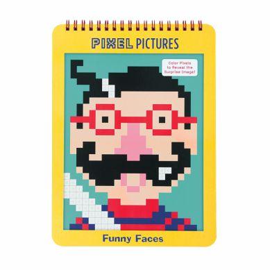 Mudpuppy - Kolorowanka Pixele Śmieszne Buźki