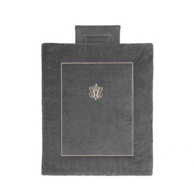 Caramella - Pościel Niemowlęca z Wypełnieniem 100x120 cm Anthracite Gloss