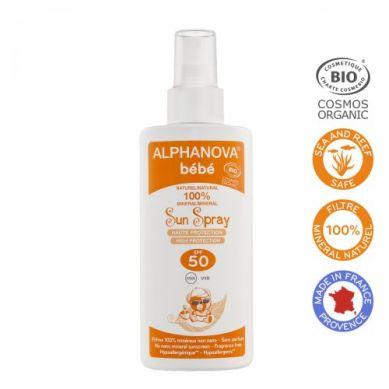 Alphanova Bebe - Przeciwsłoneczny Spray o Wysokim Filtrze SPF 50 125g