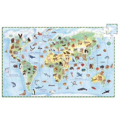 Djeco - Puzzle Obserwacyjne 100 el. z Książeczką Świat Zwierząt