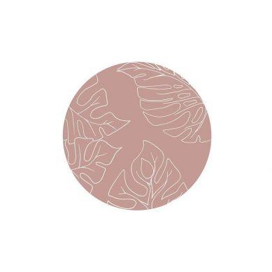 Toddlekind - Mata Ochronna Podłogowa Okrągła Clean Wean Mat Jungle Nude Pink