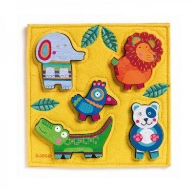 Djeco - Drewniano-Filcowe Puzzle Junga
