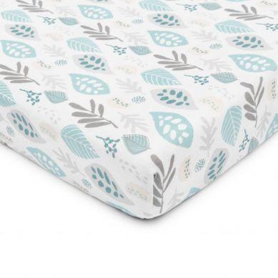 ColorStories -Prześcieradło do łóżeczka 140×70 cm Floral turkus