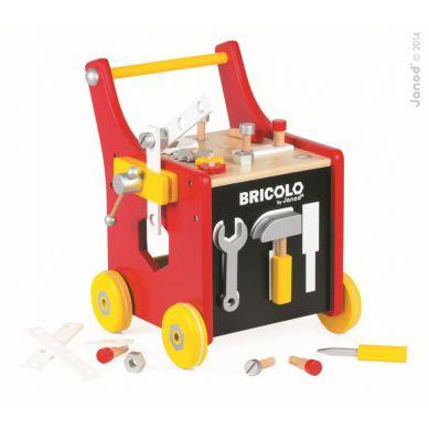 Janod - Wózek-warsztat Magnetyczny z Narzędziami Bricolo