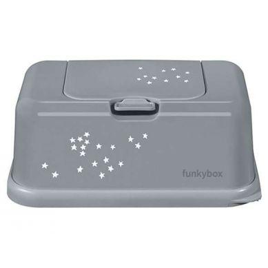 Funkybox - Pojemnik na Chusteczki Grey Little Stars
