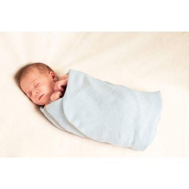 Lullalove - Otulacz Bambusowy SuperPRO Newborn Blue
