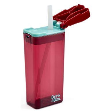 Drink In The Box - Bidon ze Słomką Malinowy 350ml