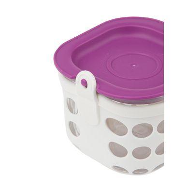 Lifefactory - Pojemnik na żywność 475ml White/Huckleberry