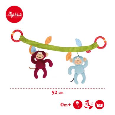 Sigikid - Miękki Łańcuch do Wózka Małpki - Grzechotki