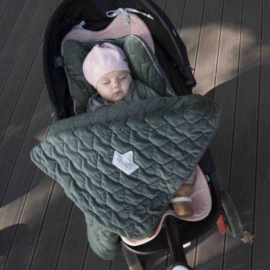 La Millou - Komplet Pościeli Velvet Collection Blanket & Mid Pillow Khaki