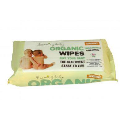 Beaming Baby - Organiczne Chusteczki Nawilżane do Skóry Bardzo Delikatnej 72 szt.