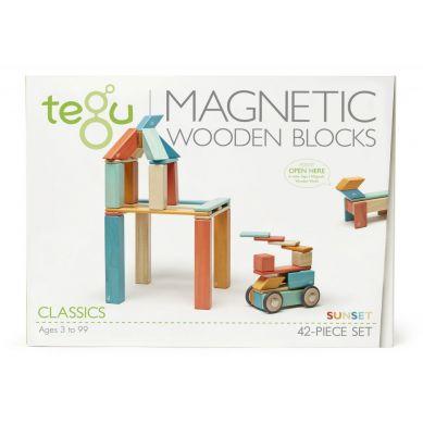 Tegu - Drewniane Klocki Magnetyczne Classics Zestaw 42szt Sunset