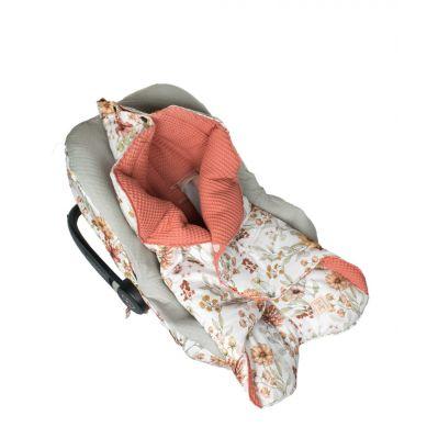 Muzpony - Pikowany Śpiworek/Otulacz do Fotelika Samochodowego Coco Flower