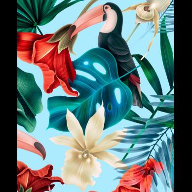 La Millou - Kosmetyczka Podróżnika King Size Blue Hawaiian Birds