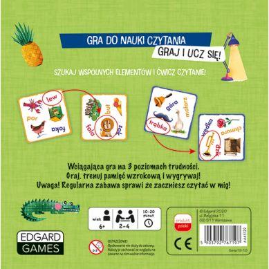 Edgard Games - Gra do Nauki Czytania Bójka na Czytanie 6+