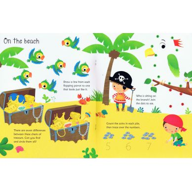 Wydawnictwo Usborne Publishing - Wipe-clean Pirates Activities