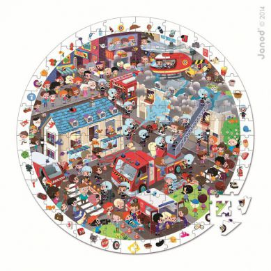 Janod - Puzzle Obserwacyjne w Walizce Straż Pożarna