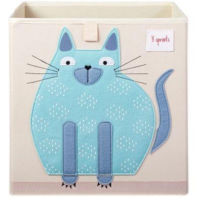 3 Sprouts - Pudełko na Zabawki Kot Blue