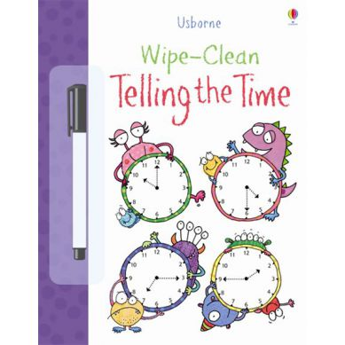 Wydawnictwo Usborne Publishing - Wipe-clean Telling The Time