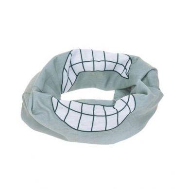 Lassig - Wielofunkcyjna Chusta Komin Flexi Loop Smile Grey