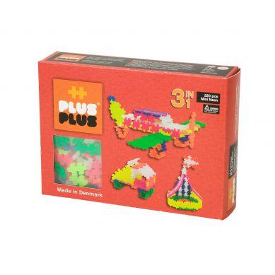 Plus Plus - Klocki Mini Neon 220 szt. 3w1
