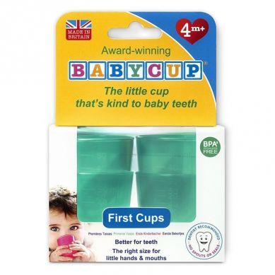 Babycup - Pierwszy Kubeczek dla Niemowląt od 4 m-ca 4 Pack Green