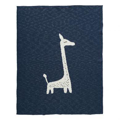 Fresk - Tkany Kocyk z Bawełny Organicznej 80 x 100 cm Żyrafa