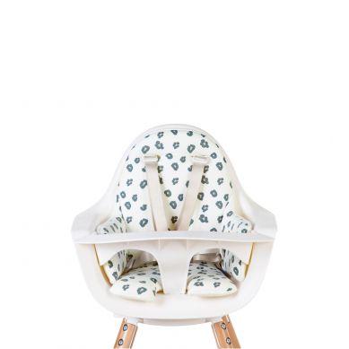 Childhome - Dwustronny Ochraniacz do Krzesełka Evolu 2 Jersey Grey/Leopard
