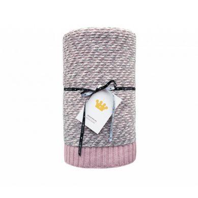Lullalove - Ciepły Koc Bawełniany Z Wełną  Różowy