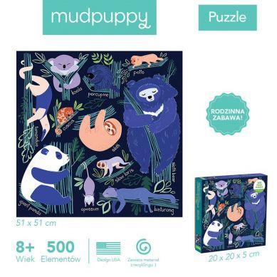 Mudpuppy - Puzzle Rodzinne Drzemka w Drzewach 500el 8+