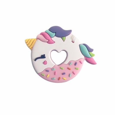 Loulou Lollipop - Gryzak Silikonowy Pink Unicorn Donut