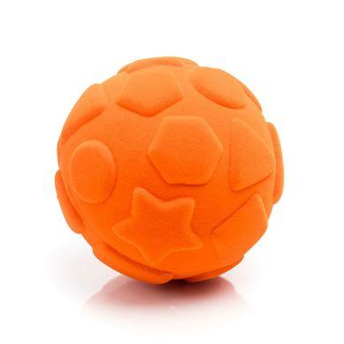 Rubbabu - Piłka Edukacyjna Sensoryczna Figury Geometryczne Pomarańczowa