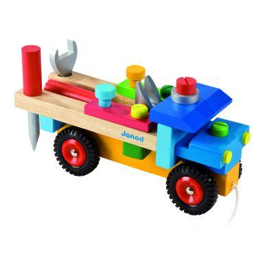 Janod - Ciężarówka Do Składania Drewniana Duża