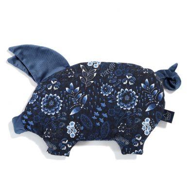 La Millou - Podusia do Wózka Sleepy Pig Velvet Collection Frozen Harvard Blue