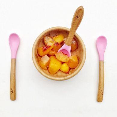 Avanchy - Baby Zestaw Bambusowych Łyżeczek 4m+ 5szt. Pink