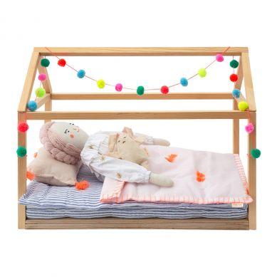 Meri Meri - Łóżko drewniane dla Lalki