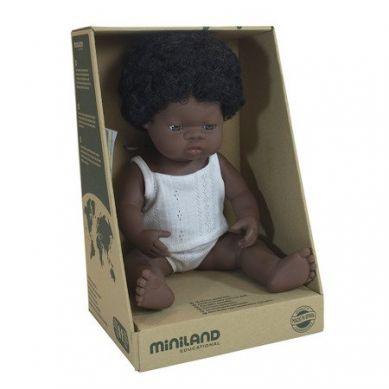 Miniland - Lalka Dziewczynka Afrykanka 38cm