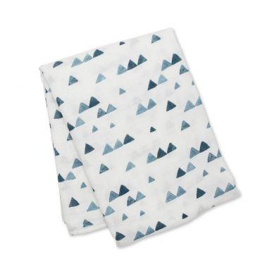 Lulujo - Kocyk Bambusowy Navy Triangles