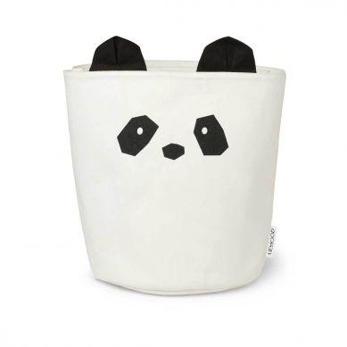 Liewood - Duży Kosz na Zabawki Panda Creme de la Creme
