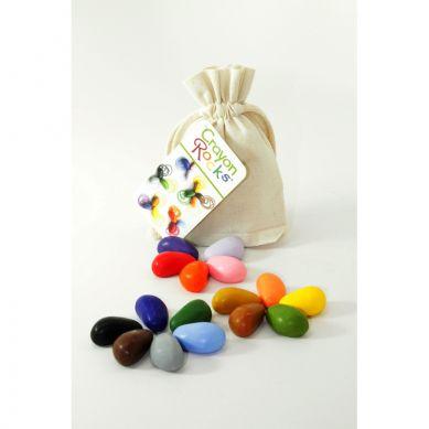 Crayon Rocks - Kredki 16  Kolorów w Bawełnianym Woreczku