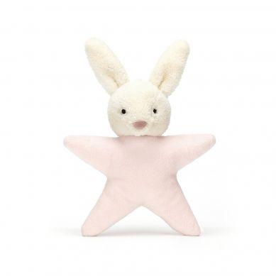 Jellycat - Grzechotka Króliczek Gwiazdka Pink